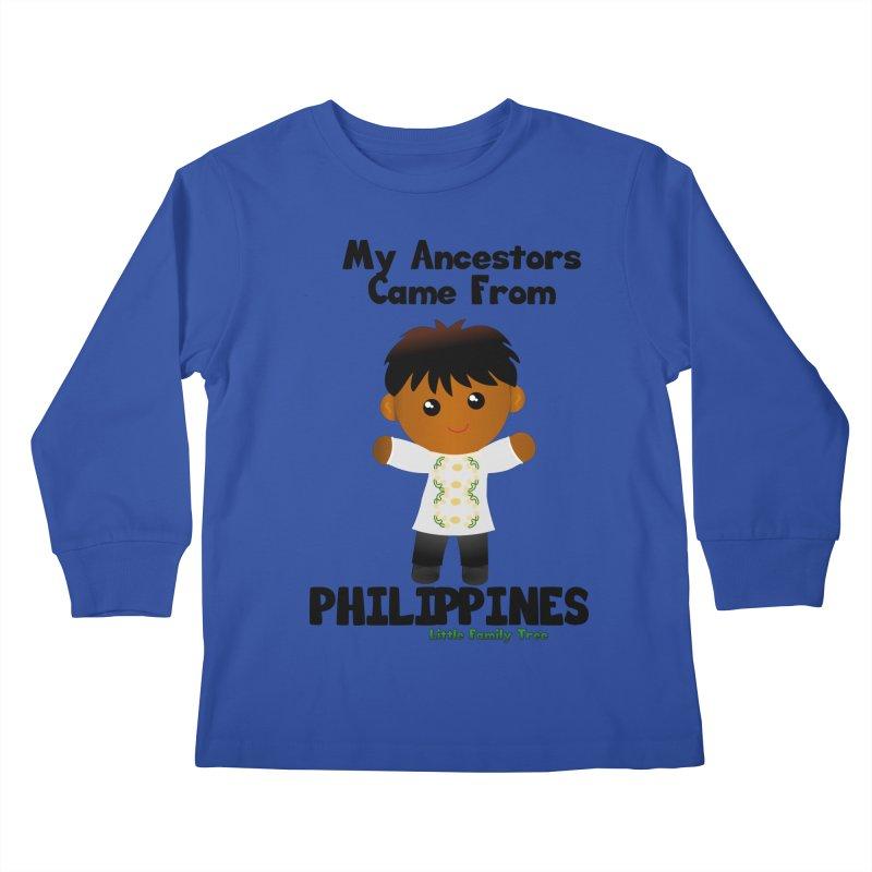 Philippines Ancestors Boy Kids Longsleeve T-Shirt by Yellow Fork Tech's Shop