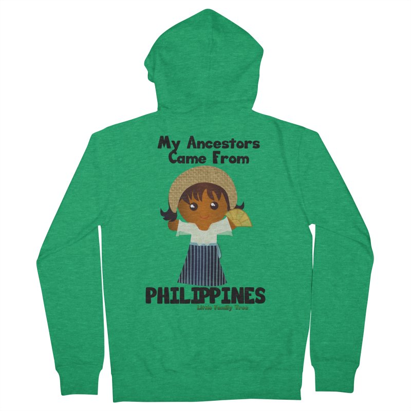 Philippines Ancestors Girl Women's Zip-Up Hoody by Yellow Fork Tech's Shop
