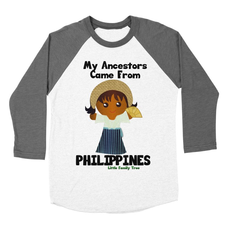Philippines Ancestors Girl Women's Baseball Triblend T-Shirt by Yellow Fork Tech's Shop
