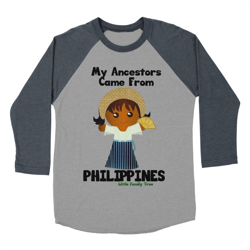 Philippines Ancestors Girl Women's Baseball Triblend T-Shirt by Yellow Fork Tech's Shop