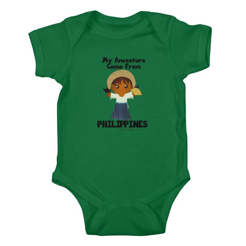 Philippines Ancestors Girl Kids Baby Bodysuit by Yellow Fork Tech's Shop