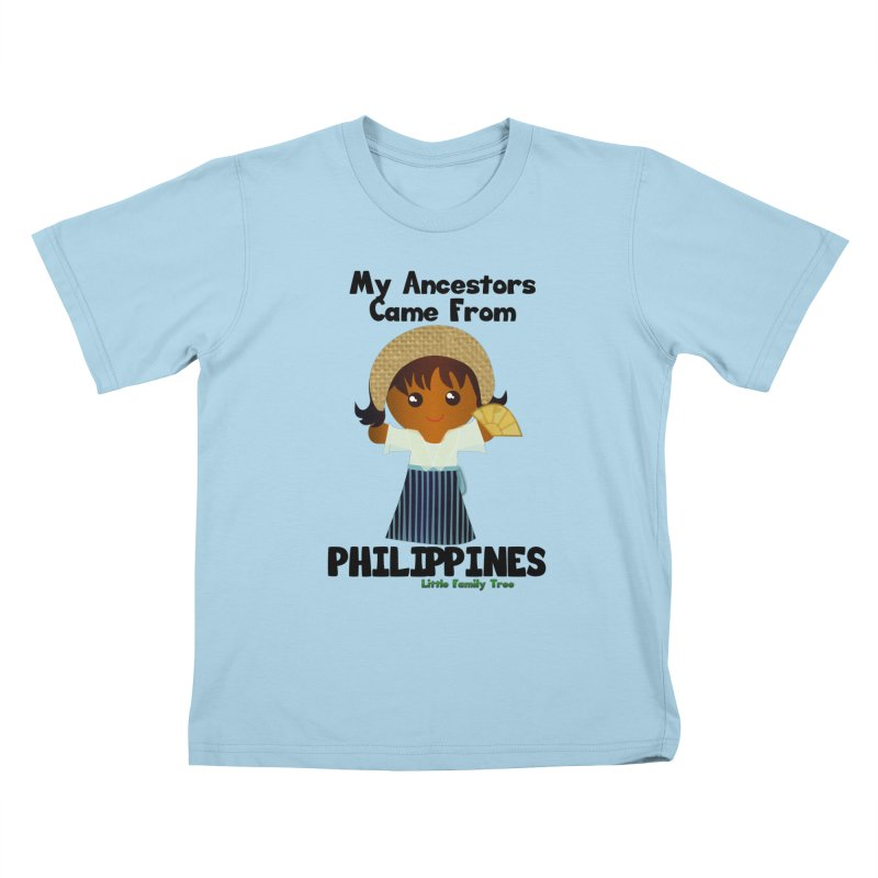 Philippines Ancestors Girl Kids T-Shirt by Yellow Fork Tech's Shop