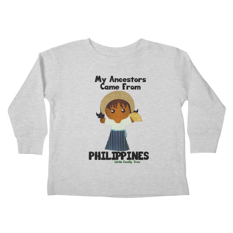 Philippines Ancestors Girl Kids Toddler Longsleeve T-Shirt by Yellow Fork Tech's Shop