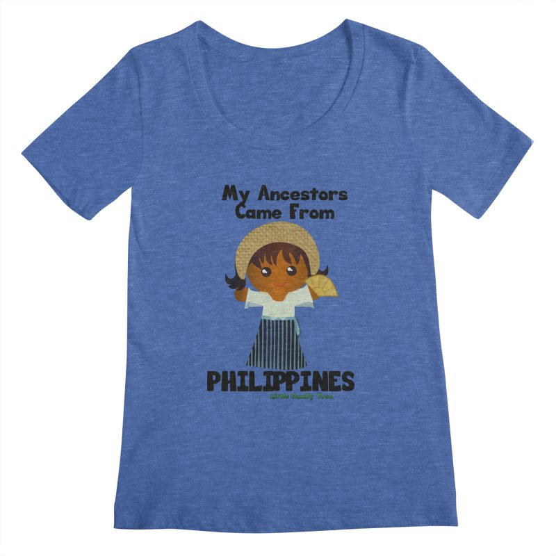 Philippines Ancestors Girl Women's Scoopneck by Yellow Fork Tech's Shop