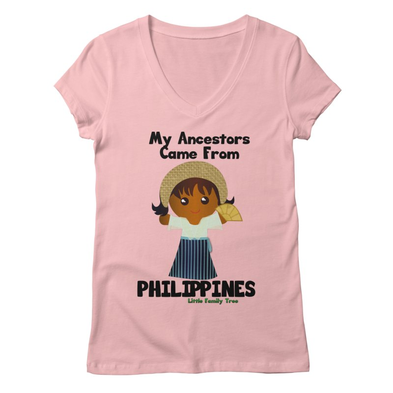 Philippines Ancestors Girl Women's V-Neck by Yellow Fork Tech's Shop