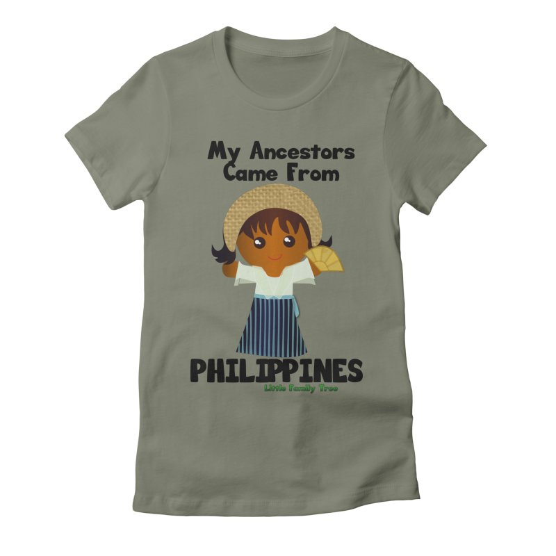 Philippines Ancestors Girl Women's Fitted T-Shirt by Yellow Fork Tech's Shop