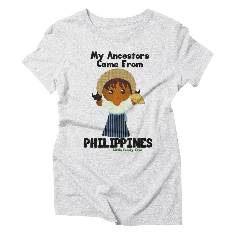 Philippines Ancestors Girl Women's Triblend T-shirt by Yellow Fork Tech's Shop