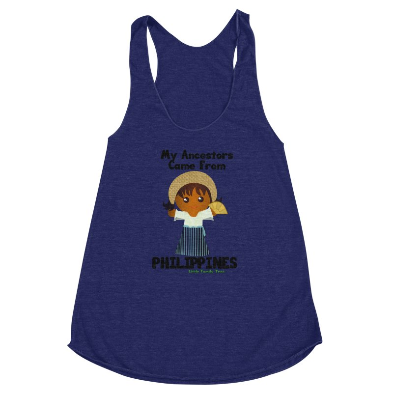 Philippines Ancestors Girl Women's Racerback Triblend Tank by Yellow Fork Tech's Shop