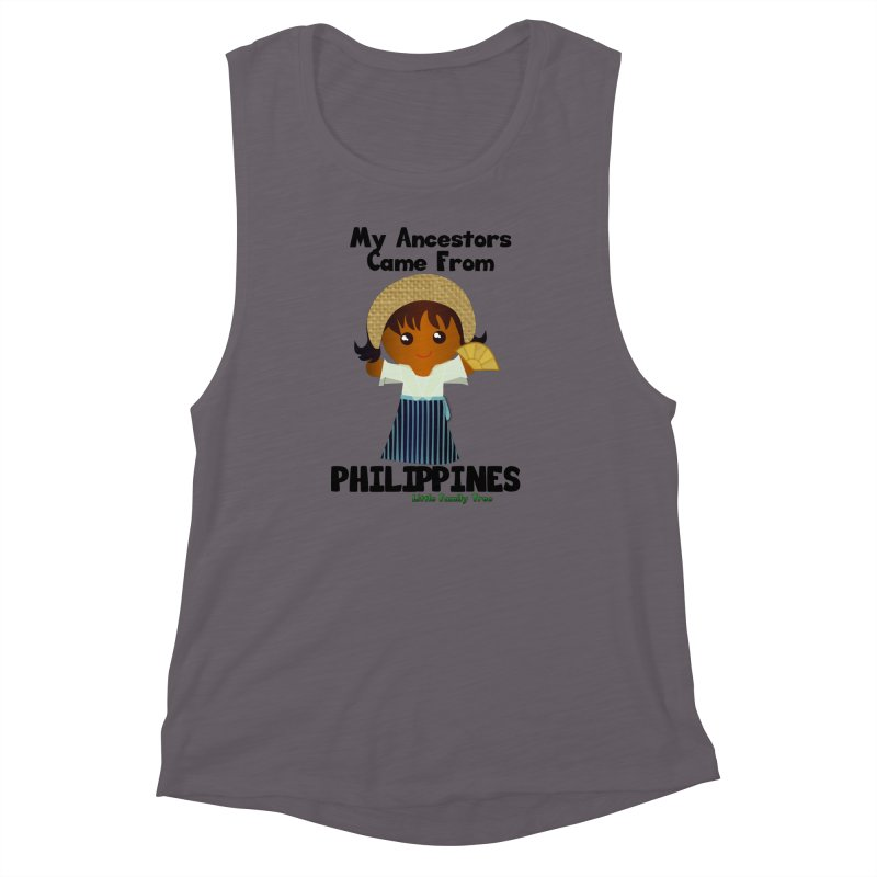 Philippines Ancestors Girl Women's Muscle Tank by Yellow Fork Tech's Shop