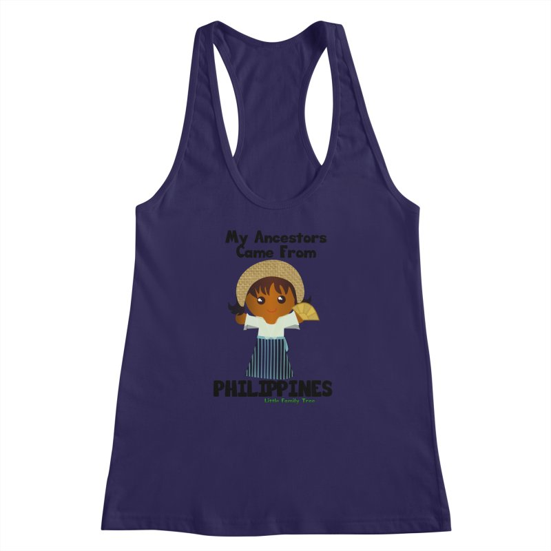 Philippines Ancestors Girl Women's Racerback Tank by Yellow Fork Tech's Shop