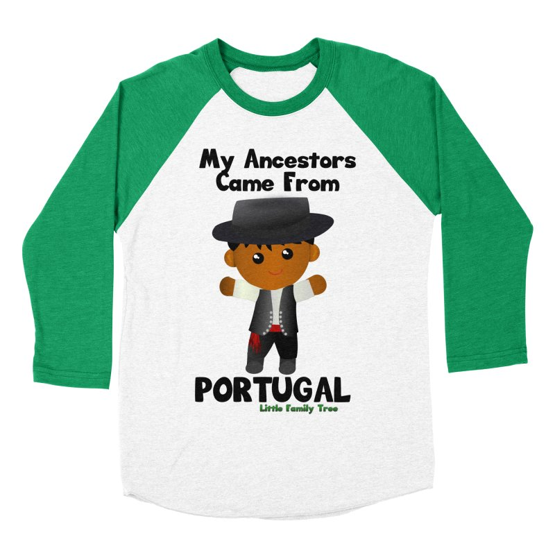 Portugal Ancestors Boy Men's Baseball Triblend T-Shirt by Yellow Fork Tech's Shop