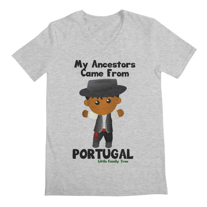 Portugal Ancestors Boy Men's V-Neck by Yellow Fork Tech's Shop