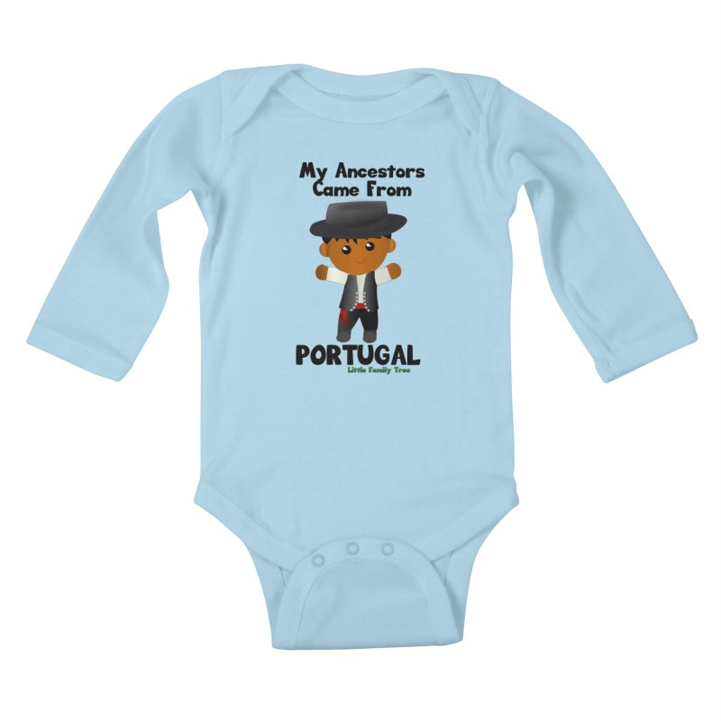Portugal Ancestors Boy Kids Baby Longsleeve Bodysuit by Yellow Fork Tech's Shop