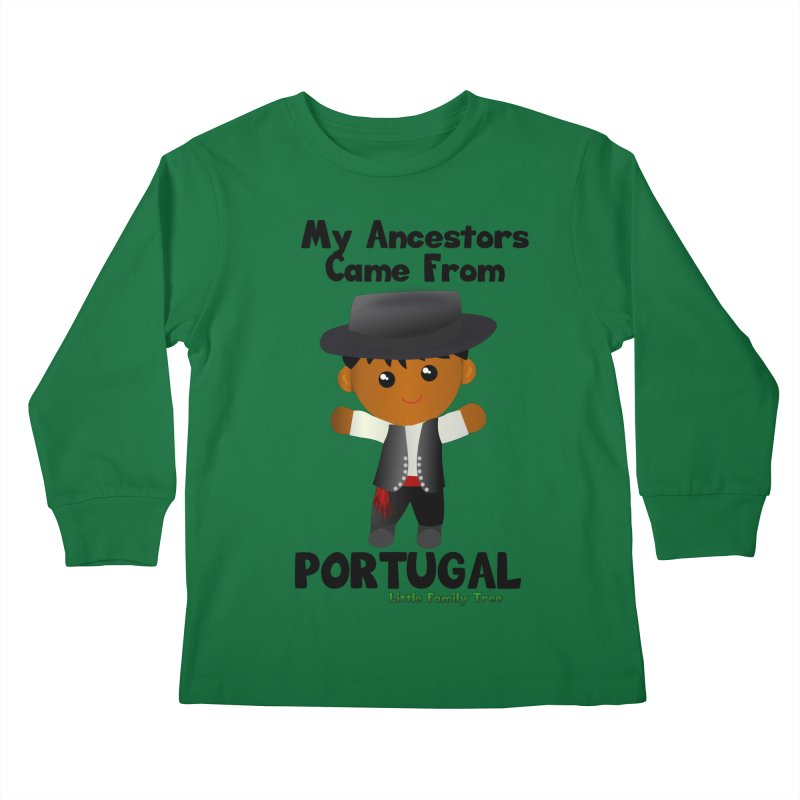 Portugal Ancestors Boy Kids Longsleeve T-Shirt by Yellow Fork Tech's Shop