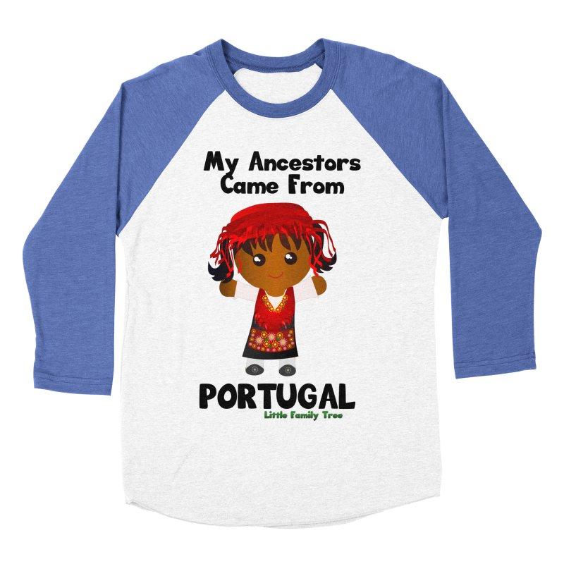 Portugal Ancestors Girl Women's Baseball Triblend T-Shirt by Yellow Fork Tech's Shop