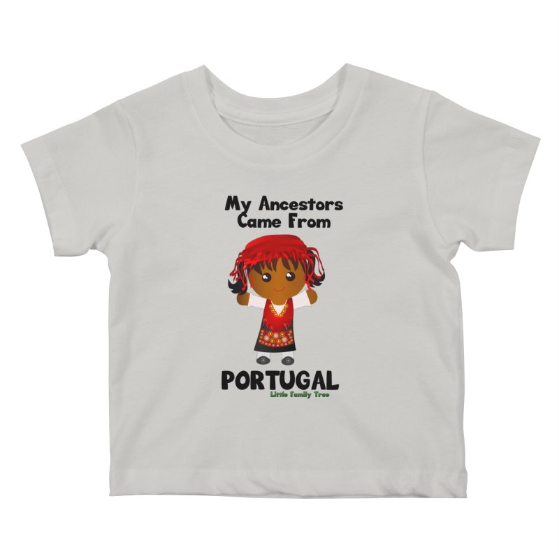 Portugal Ancestors Girl Kids Baby T-Shirt by Yellow Fork Tech's Shop
