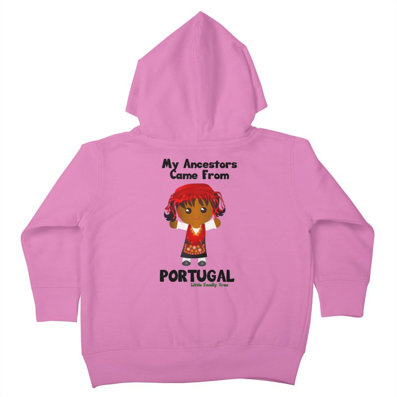 Portugal Ancestors Girl Kids Toddler Zip-Up Hoody by Yellow Fork Tech's Shop