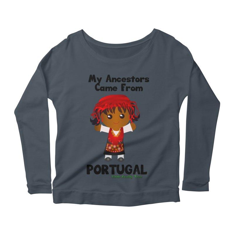 Portugal Ancestors Girl Women's Longsleeve Scoopneck  by Yellow Fork Tech's Shop