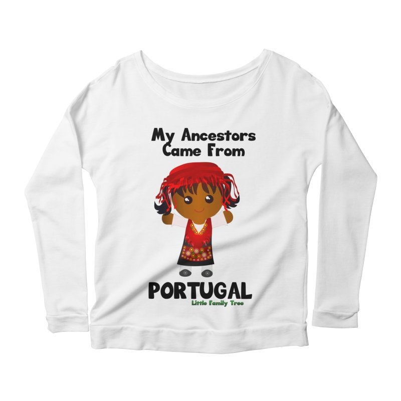Portugal Ancestors Girl Women's Longsleeve Scoopneck  by Yellow Fork Tech's Shop