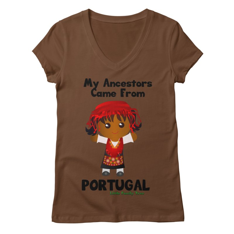Portugal Ancestors Girl Women's V-Neck by Yellow Fork Tech's Shop