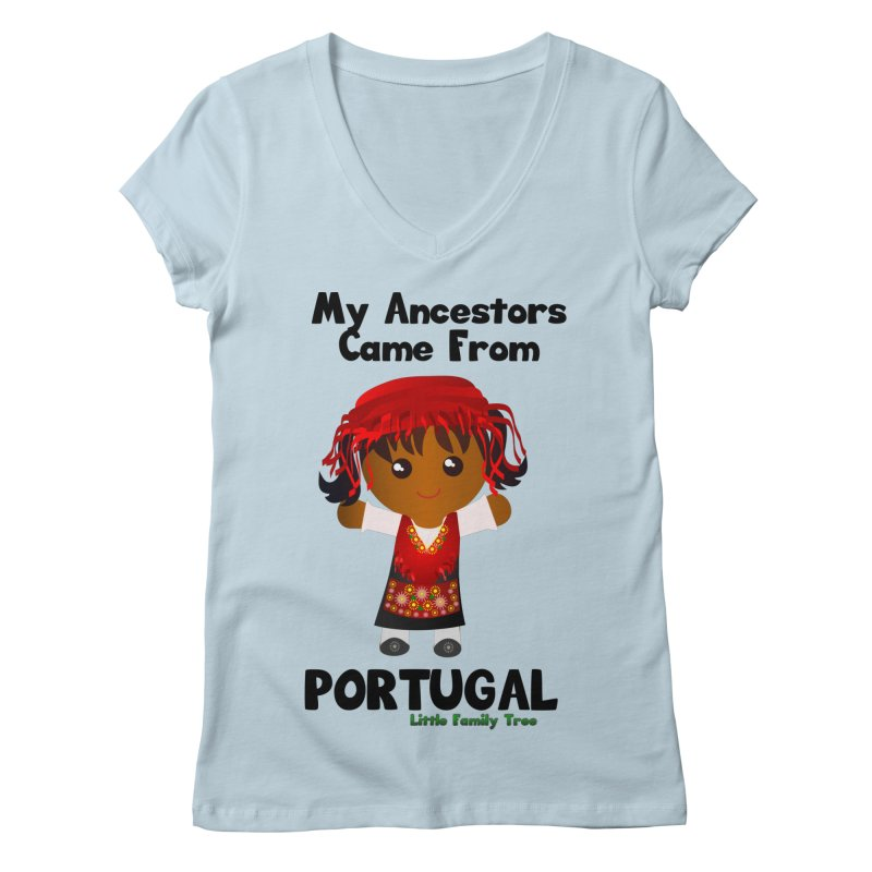 Portugal Ancestors Girl Women's V-Neck by Yellow Fork Tech's Shop