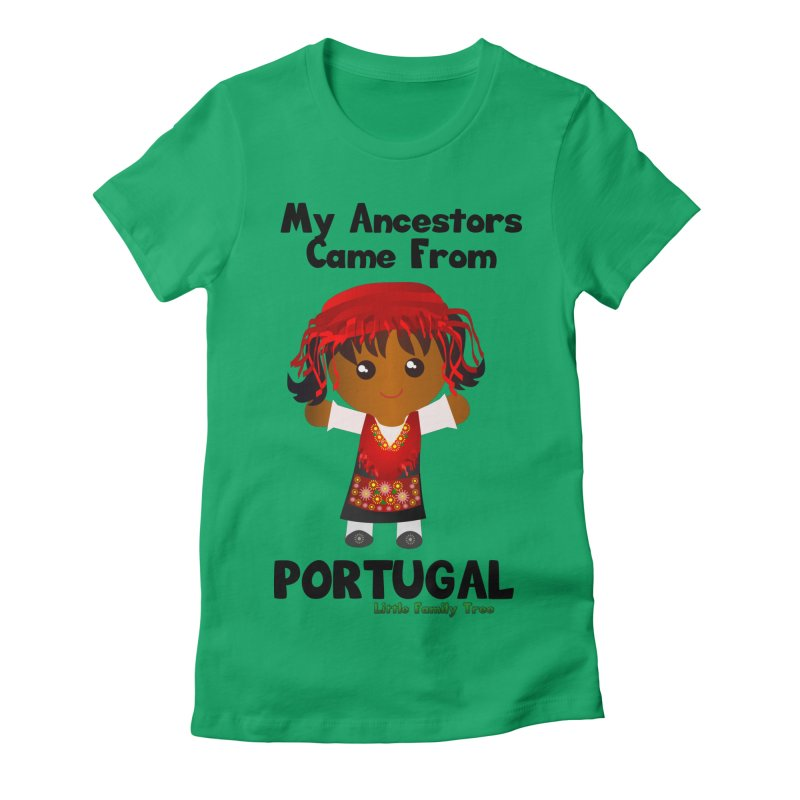 Portugal Ancestors Girl Women's Fitted T-Shirt by Yellow Fork Tech's Shop