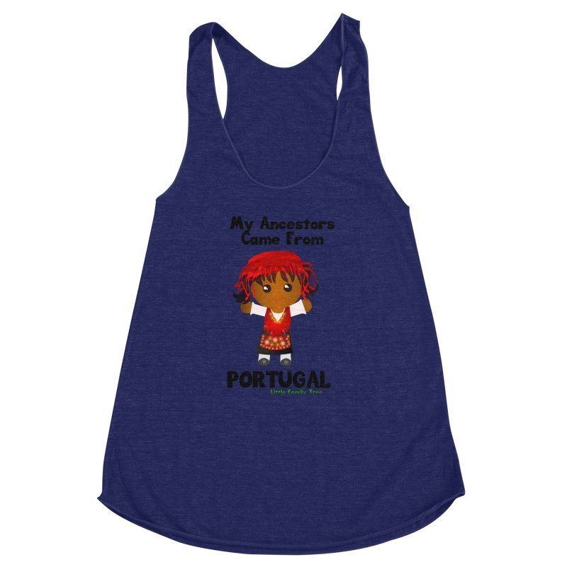 Portugal Ancestors Girl Women's Racerback Triblend Tank by Yellow Fork Tech's Shop