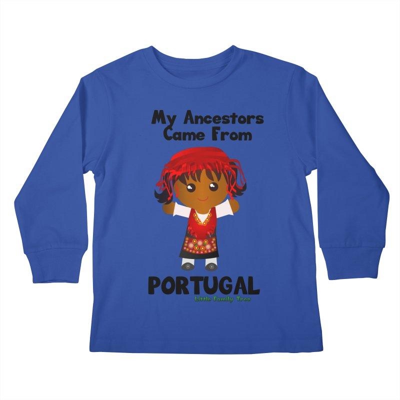 Portugal Ancestors Girl Kids Longsleeve T-Shirt by Yellow Fork Tech's Shop