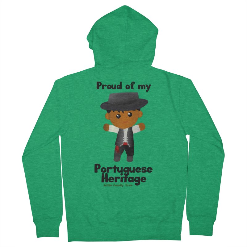 Portuguese Heritage Boy Men's Zip-Up Hoody by Yellow Fork Tech's Shop