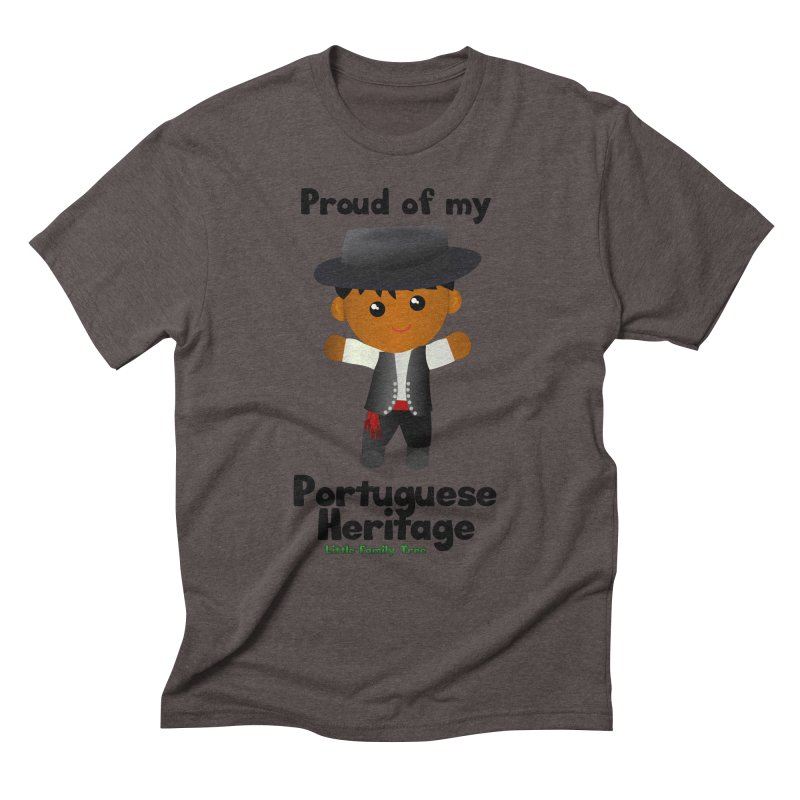 Portuguese Heritage Boy Men's Triblend T-Shirt by Yellow Fork Tech's Shop