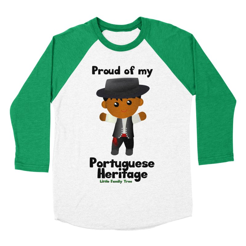 Portuguese Heritage Boy Men's Baseball Triblend T-Shirt by Yellow Fork Tech's Shop