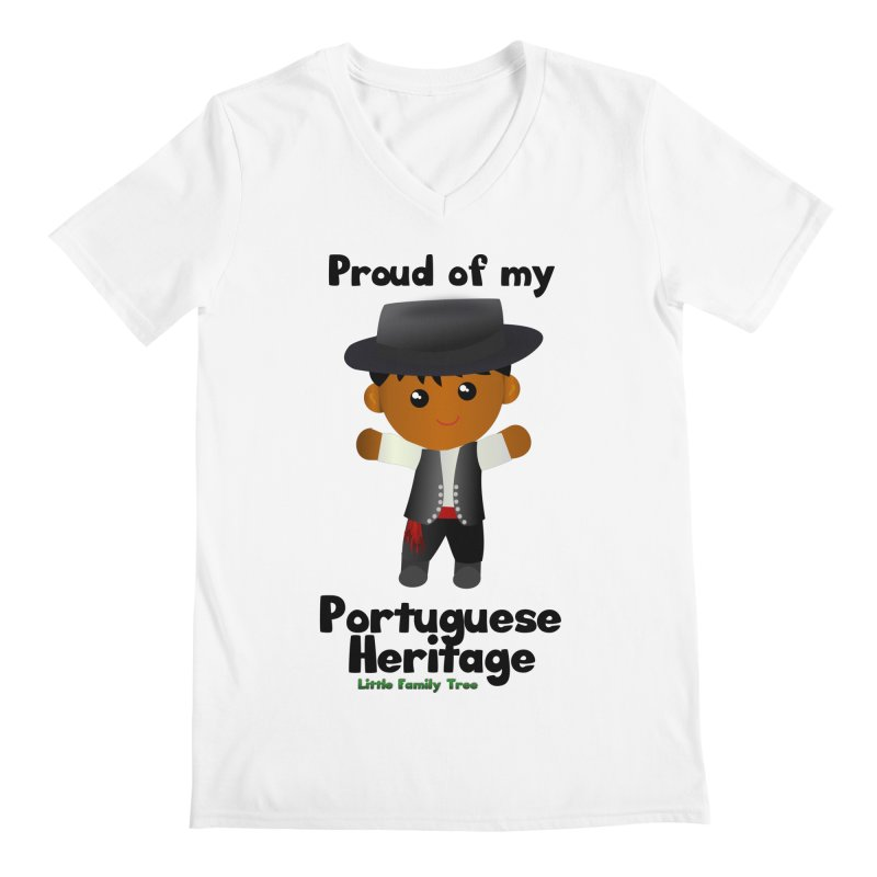 Portuguese Heritage Boy Men's V-Neck by Yellow Fork Tech's Shop