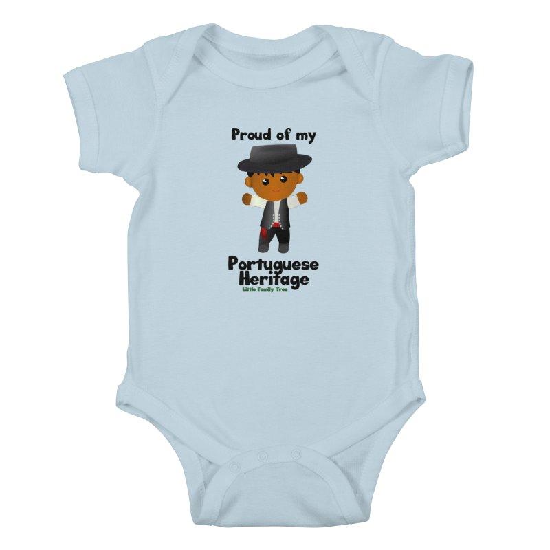 Portuguese Heritage Boy Kids Baby Bodysuit by Yellow Fork Tech's Shop