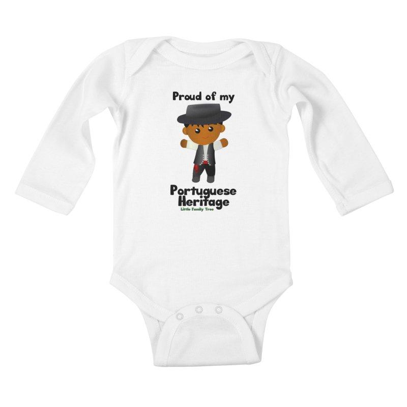 Portuguese Heritage Boy Kids Baby Longsleeve Bodysuit by Yellow Fork Tech's Shop