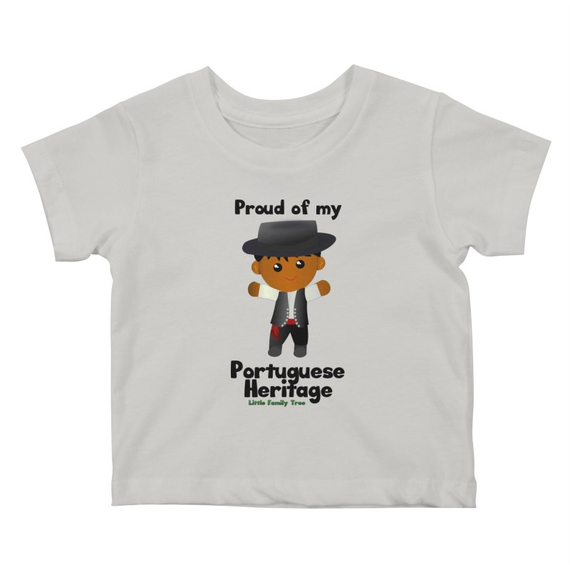 Portuguese Heritage Boy Kids Baby T-Shirt by Yellow Fork Tech's Shop