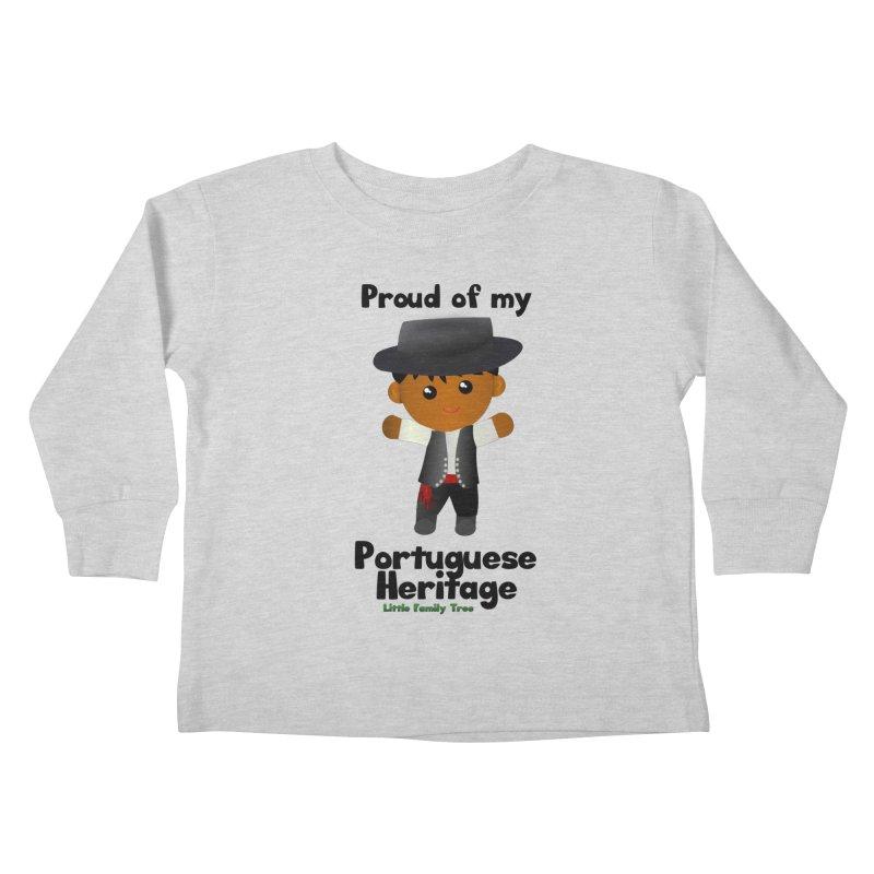 Portuguese Heritage Boy Kids Toddler Longsleeve T-Shirt by Yellow Fork Tech's Shop