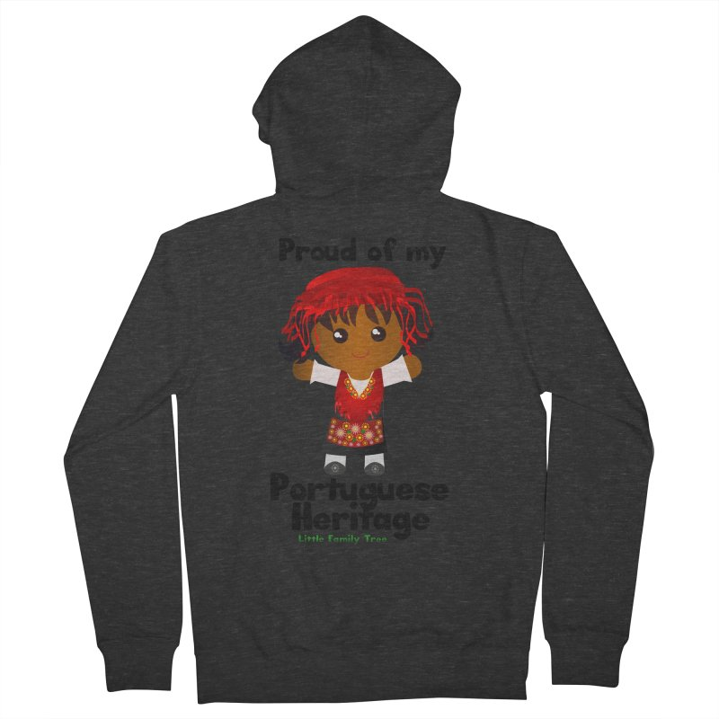 Portuguese Heritage Girl Women's Zip-Up Hoody by Yellow Fork Tech's Shop