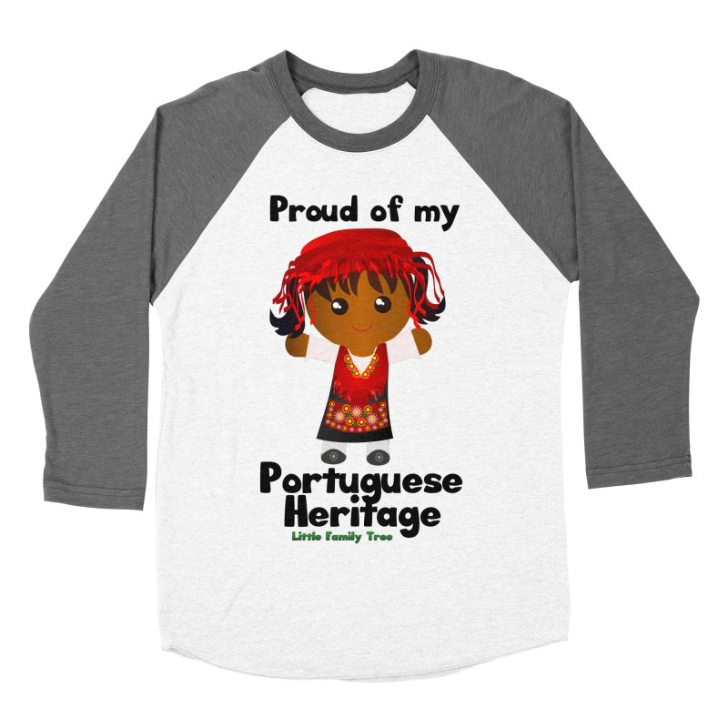 Portuguese Heritage Girl Women's Baseball Triblend T-Shirt by Yellow Fork Tech's Shop
