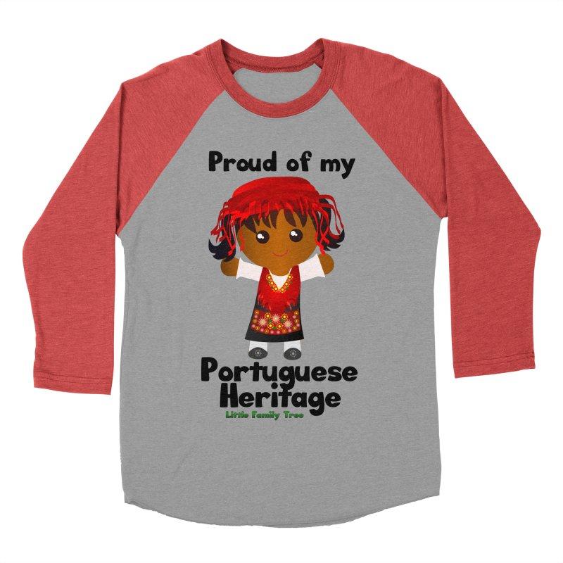 Portuguese Heritage Girl Women's Baseball Triblend T-Shirt by Yellow Fork Tech's Shop