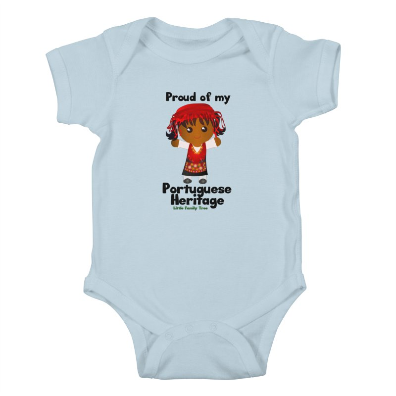 Portuguese Heritage Girl Kids Baby Bodysuit by Yellow Fork Tech's Shop
