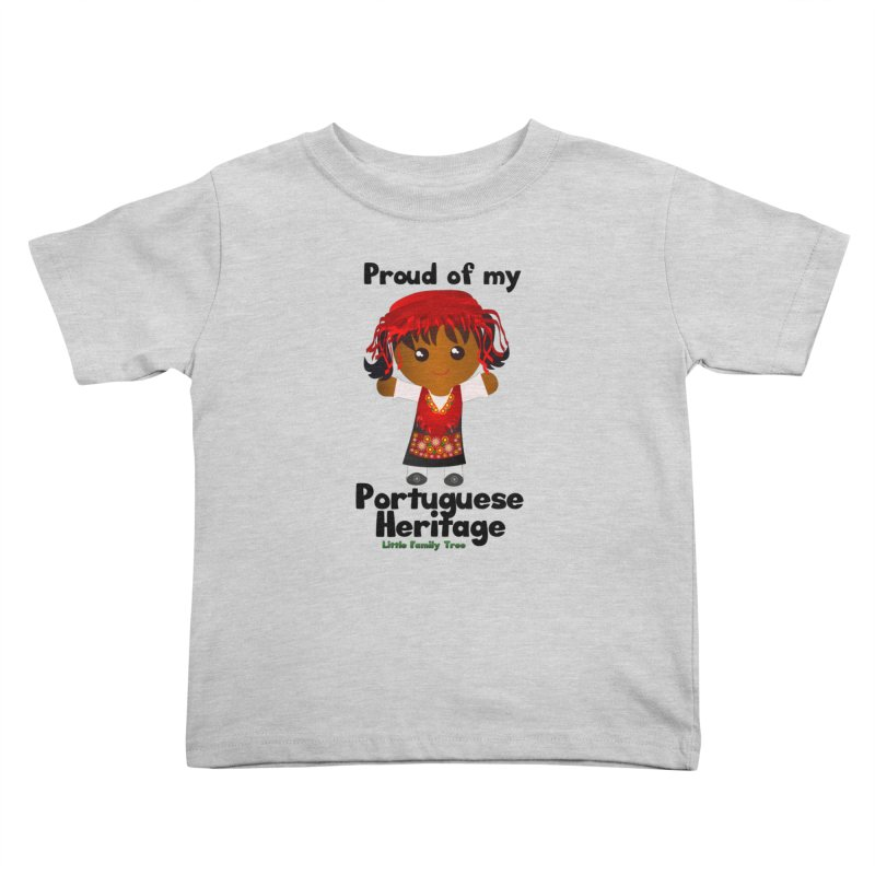 Portuguese Heritage Girl Kids Toddler T-Shirt by Yellow Fork Tech's Shop