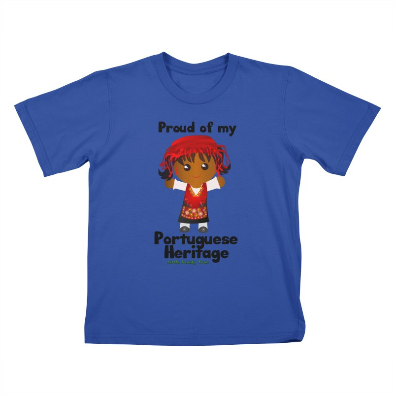 Portuguese Heritage Girl Kids T-Shirt by Yellow Fork Tech's Shop
