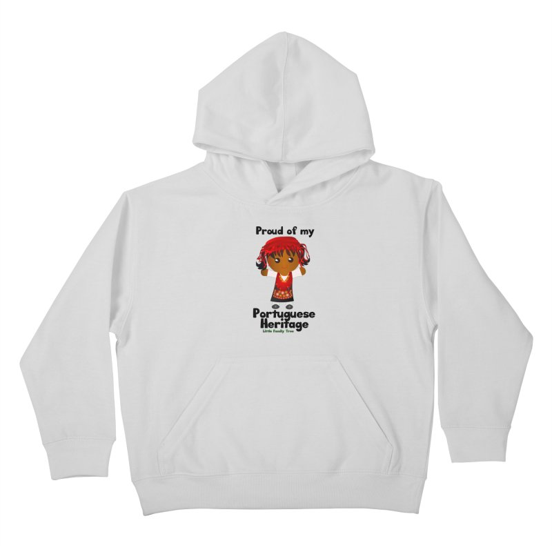 Portuguese Heritage Girl Kids Pullover Hoody by Yellow Fork Tech's Shop