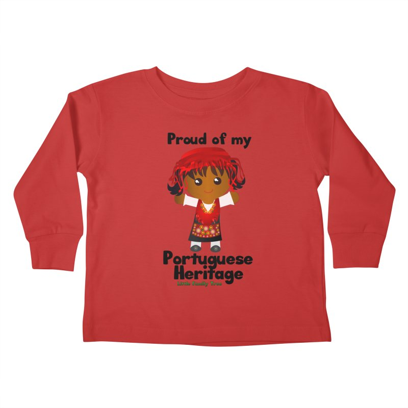 Portuguese Heritage Girl Kids Toddler Longsleeve T-Shirt by Yellow Fork Tech's Shop
