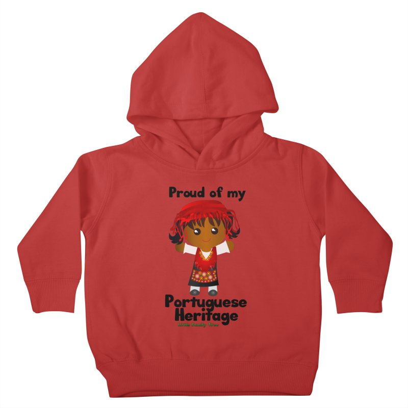 Portuguese Heritage Girl Kids Toddler Pullover Hoody by Yellow Fork Tech's Shop