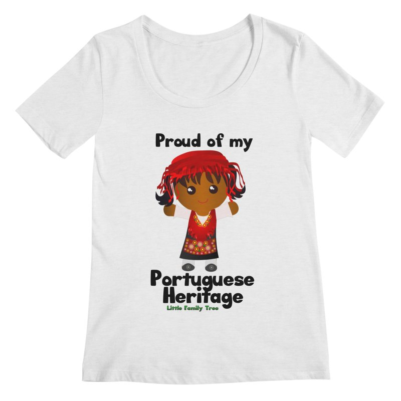 Portuguese Heritage Girl Women's Scoopneck by Yellow Fork Tech's Shop
