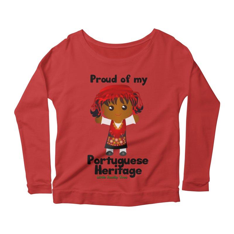 Portuguese Heritage Girl Women's Longsleeve Scoopneck  by Yellow Fork Tech's Shop