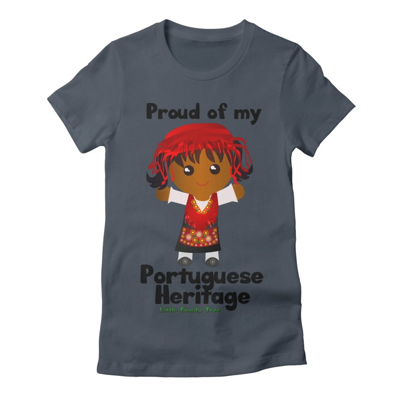 Portuguese Heritage Girl Women's Fitted T-Shirt by Yellow Fork Tech's Shop