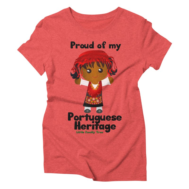 Portuguese Heritage Girl Women's Triblend T-Shirt by Yellow Fork Tech's Shop