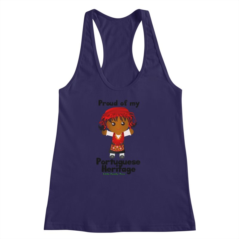 Portuguese Heritage Girl Women's Racerback Tank by Yellow Fork Tech's Shop